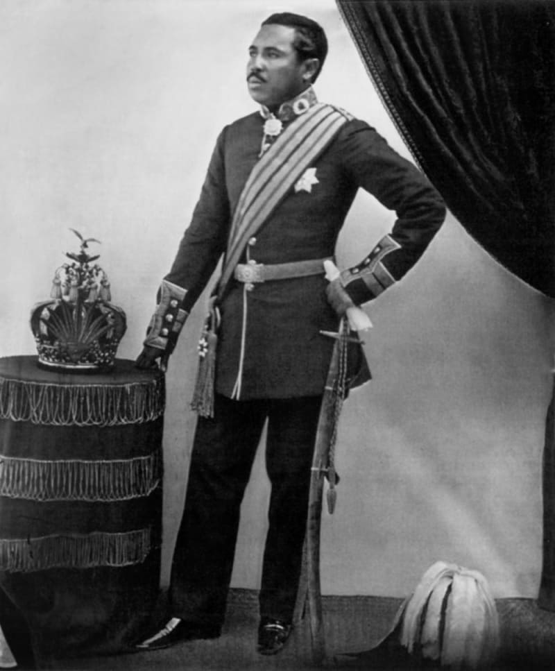 Радама II, король Мадагаскара / Фотограф Уильям Эллис