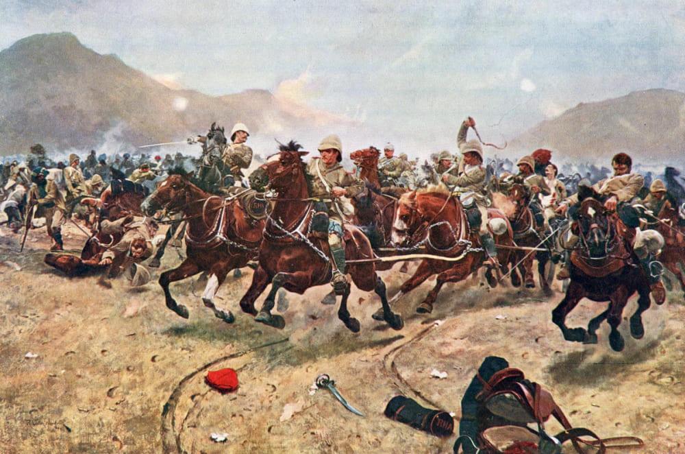 Ричард Вудвиль «Отступление британской конной артиллерии в битве при Майванде»