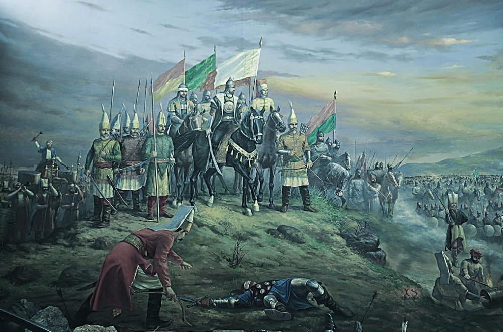 Султан Сулейман в битве при Мохаче