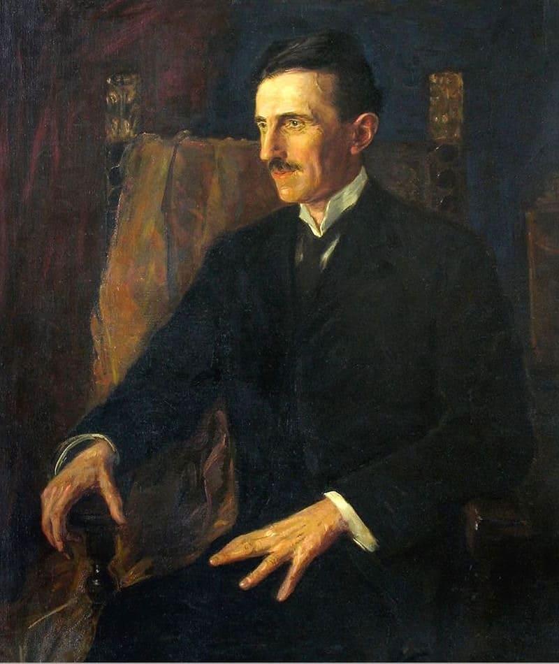 Вильма Львофф-Парлаги «Портрет Николы Теслы», единственная картина, для которой он позировал