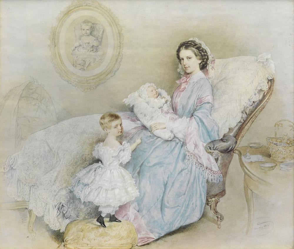 Йозеф Крихубер «Императрица Елизавета со своими детьми» / dorotheum.com