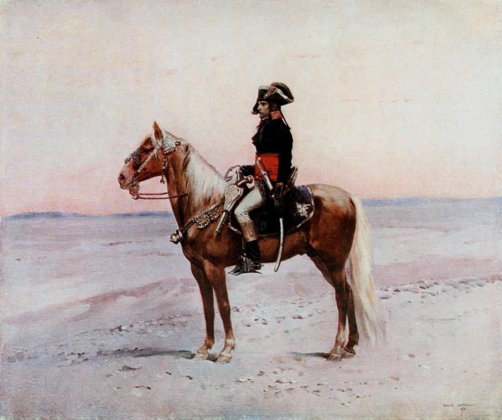 Жан Батист Эдуард Детайль «Наполеон на коне»