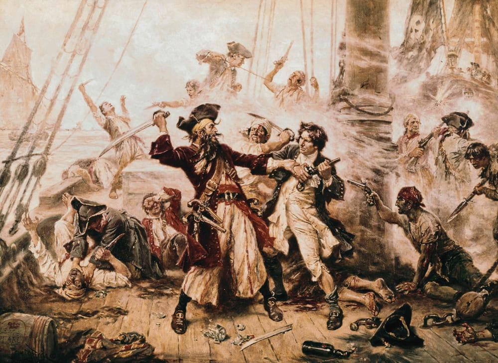 Жан Леон Жером Феррис «Захват пирата Чёрная Борода»