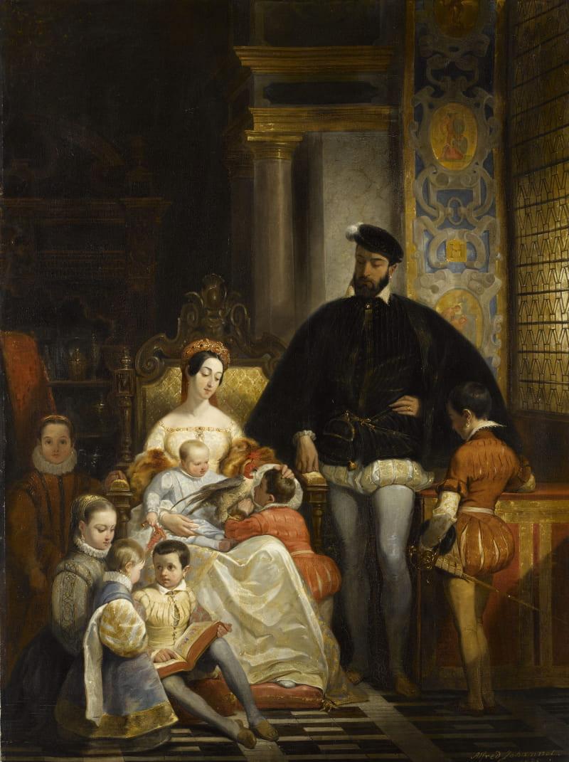 Альфред Жоанно «Генрих II, Екатерина Медичи и их дети» / Лувр, Франция