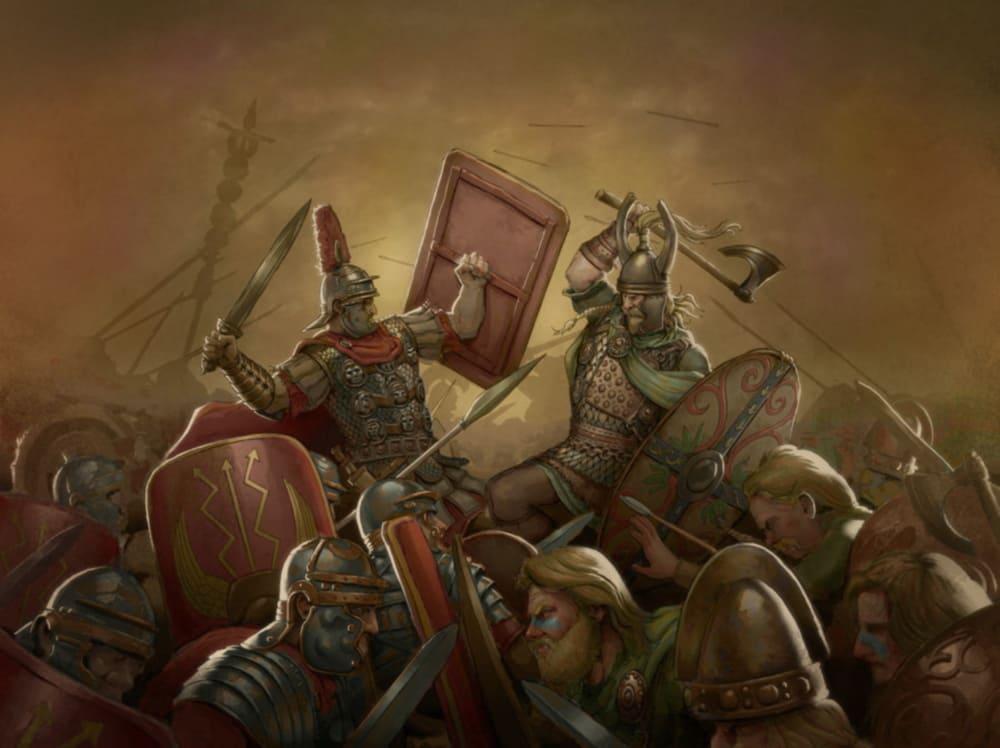 Битва римлян против кельтов / © Jose Artundo / joseart.artstation.com