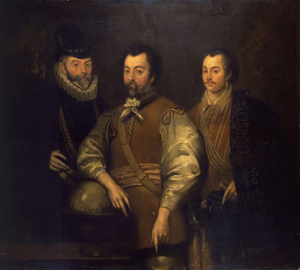 Британская школа «Три пирата - Томас Кэвендиш, сэр Фрэнсис Дрейк и сэр Джон Хокинс» / Национальный морской музей, Лондон