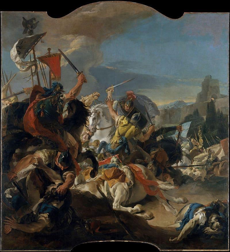Джованни Баттиста Тьеполо «Битва при Верцеллах» / Метрополитен-музей, США