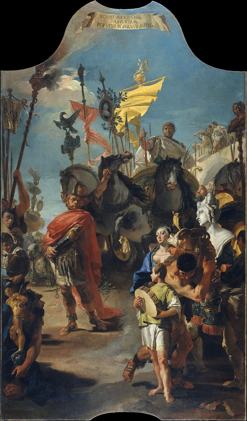 Джованни Баттиста Тьеполо «Римский народ видит Югурту, закованного в цепи» / Метрополитен-музей, США