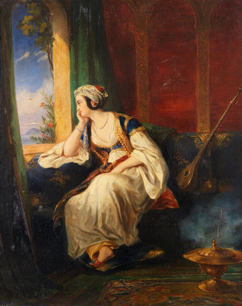 Эжен Девериа «Молодая женщина с Востока» (не является изображением Мухсине-хатун)
