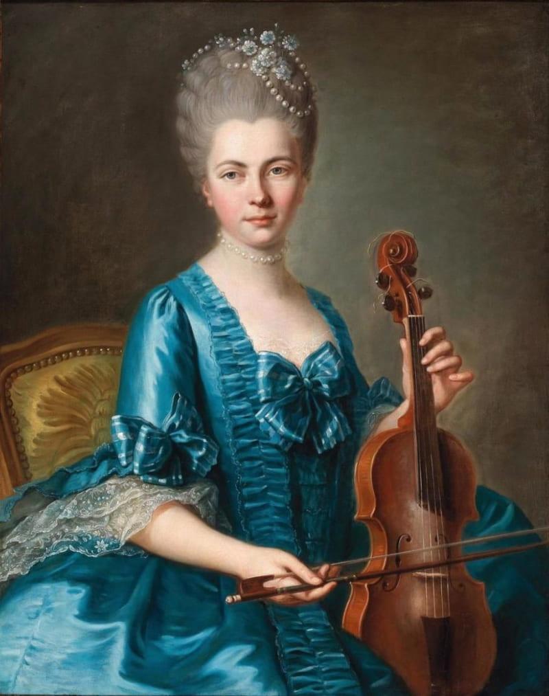 Гийом Вуарио «Юная дама со скрипкой» (не является портретом княжны Таракановой)