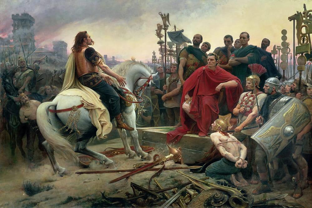 Лионель Руайе «Верцингеторикс сдаётся Цезарю» / Музей Крозатье, Франция