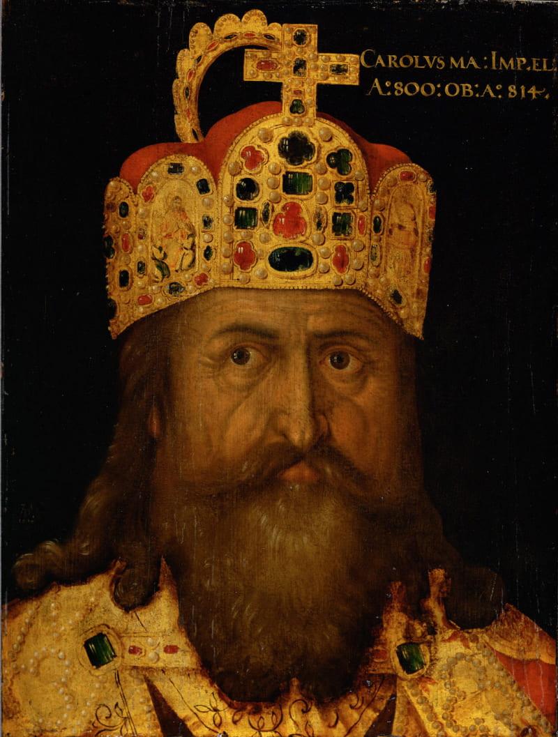 Неизестный художник «Портрет короля франков Карла Великого» / Музей истории искусств, Австрия