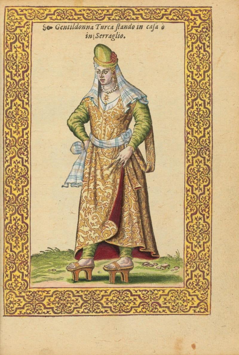 Николя де Николе «Турецкая аристократка» / Из книги «Le navigationi et viaggi nella Turchia», 1577