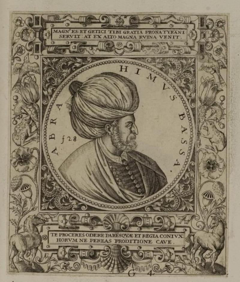 Теодор де Бри «Паргалы Ибрагим-паша, великий визирь султана Сулеймана I»