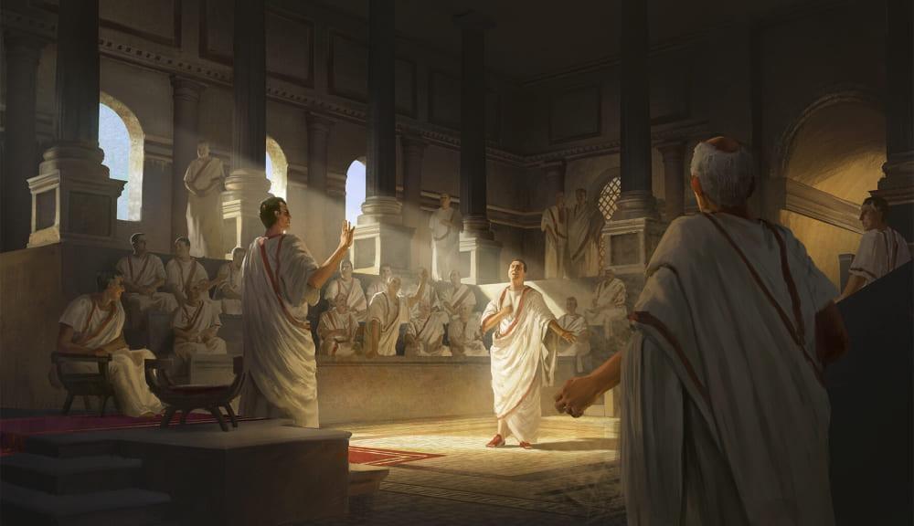 Римский сенат / © Gökberk Kaya / hawk.artstation.com