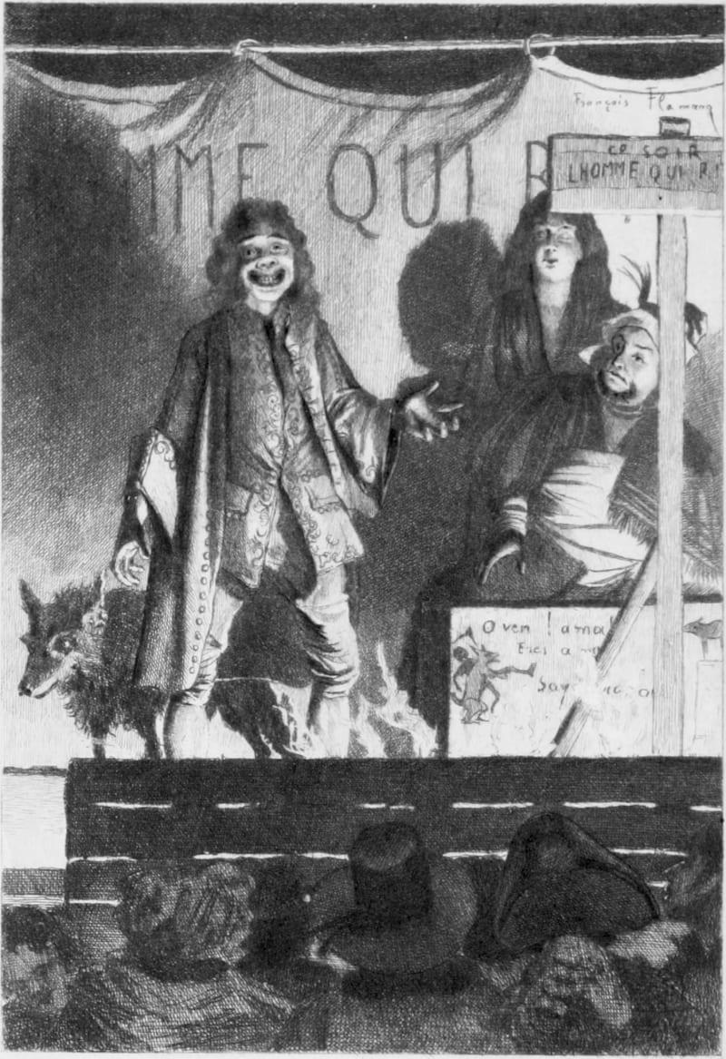Франсуа Фламенг «Человек, который смеется». Рисунок из первого американского издания романа Виктора Гюго