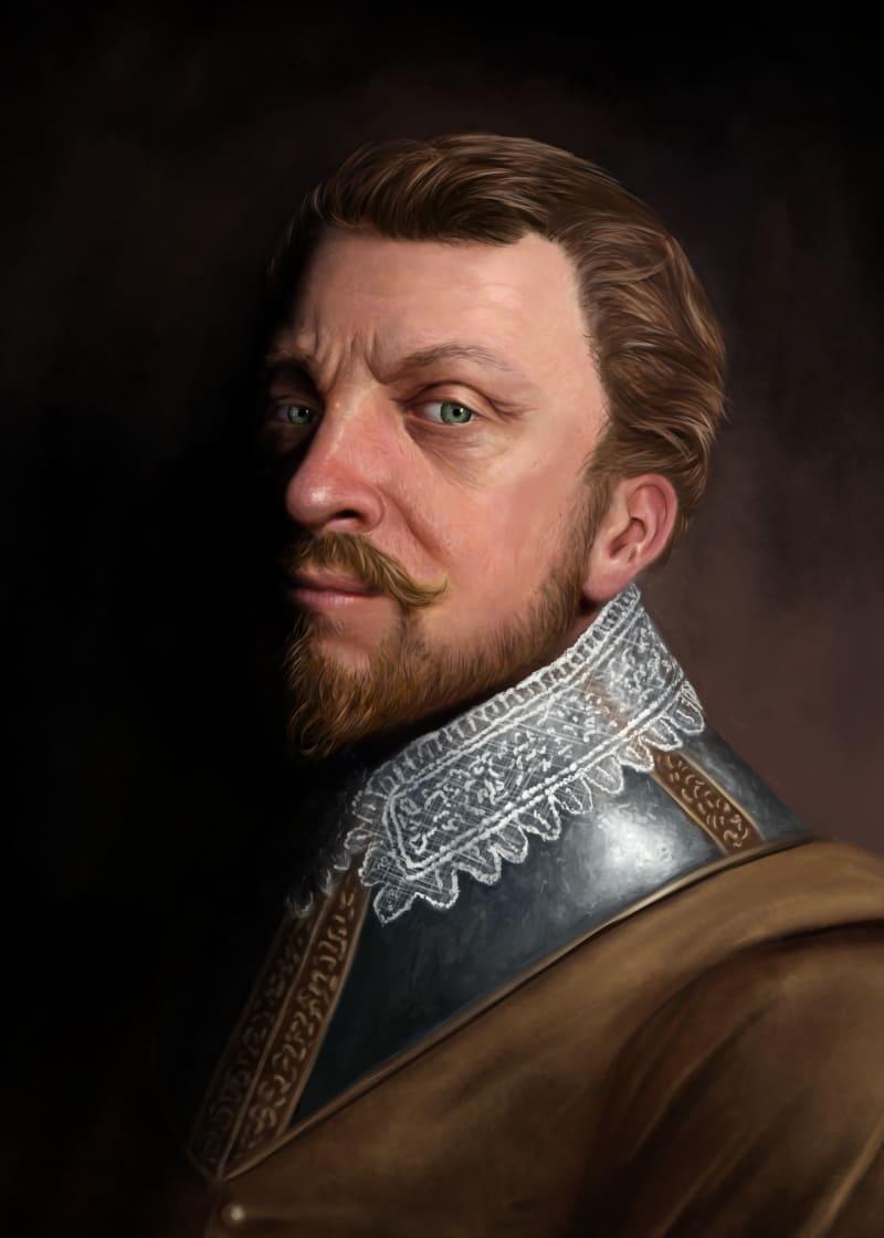 Сэр Фрэнсис Дрейк (исторический портрет, основанный на современных источниках) / © Martin Woods / martinwoods.artstation.com