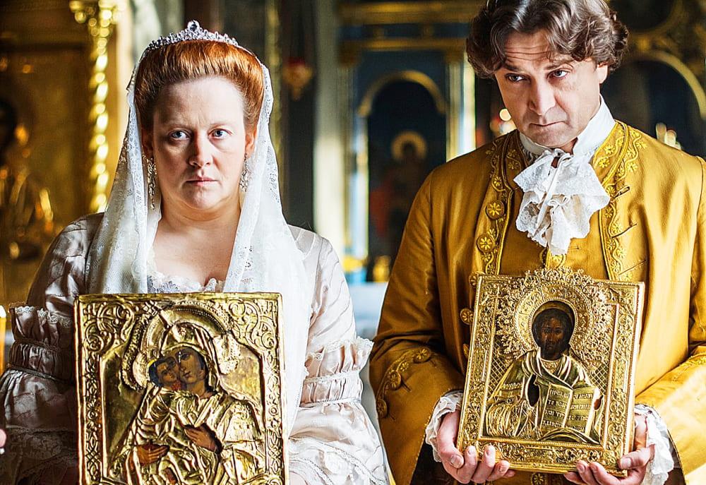 Сцена венчания Елизаветы Петровны и Алексея Разумовского из сериала «Екатерина», 2014 года