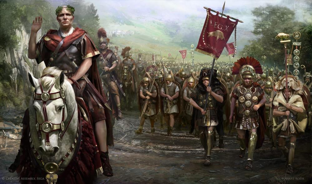 Цезарь в Галлии / © Mariusz Kozik / lacedemon.artstation.com