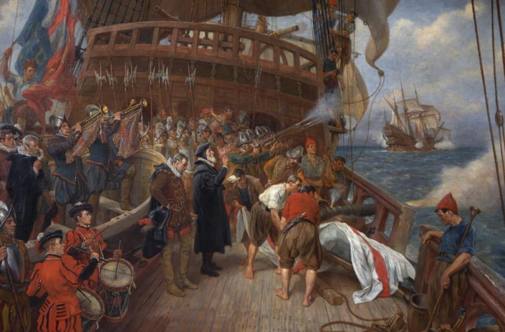 Томас Дэвидсон «Похороны адмирала Дрейка» / Усадьба Баклэнд-Эбби, Англия