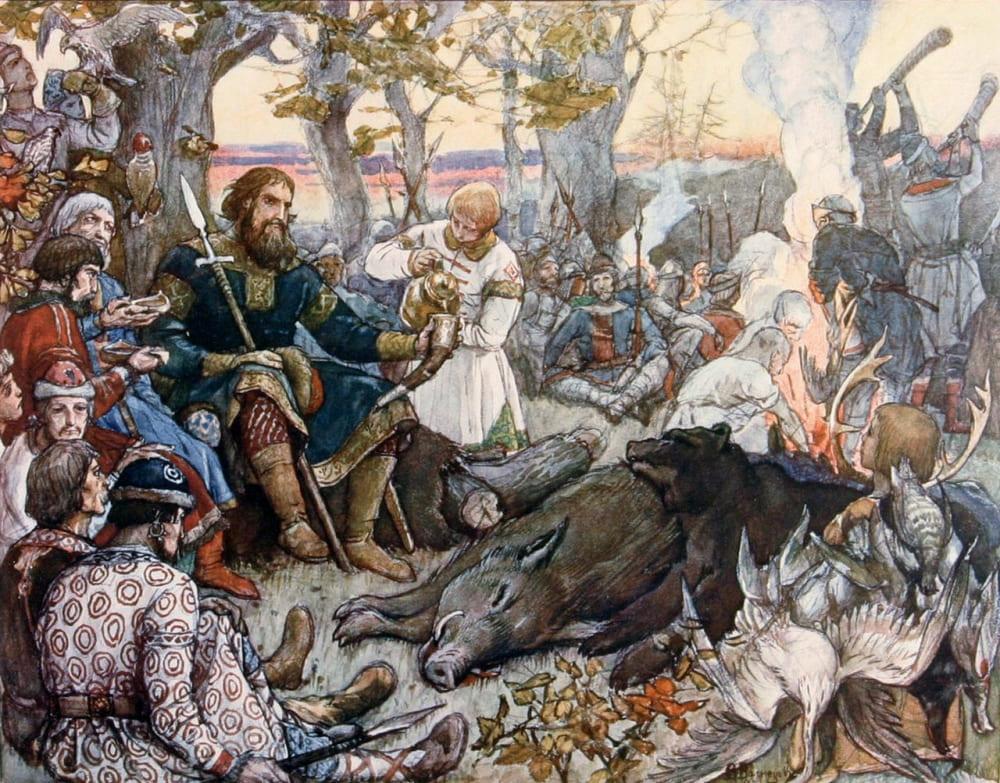 Виктор Васнецов «Отдых великого князя Владимира Мономаха после охоты»