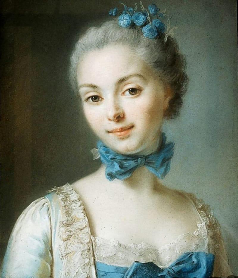 Жан-Марсьяль Фреду «Портрет молодой женщины с голубой лентой на шее» (не является портретом Натальи Лопухиной)